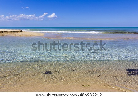 Sea of Salento, clear waters