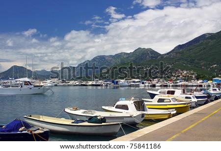 Sea Port of Bar City, Montenegro - stock photo