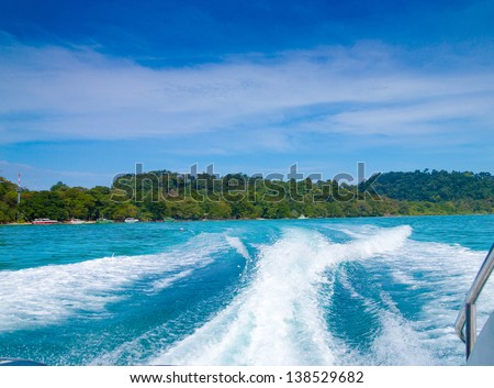Sea Racing Wind in your Face - stock photo