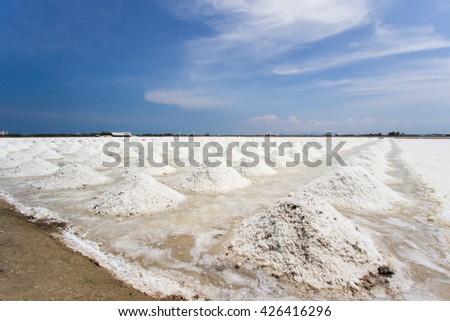 Sea Salt Farming in Petchaburi Province,Thailand.Form generation to generation,the people living along the local coast of Petchaburi have been relying onsea salt farming for their livelihood.
