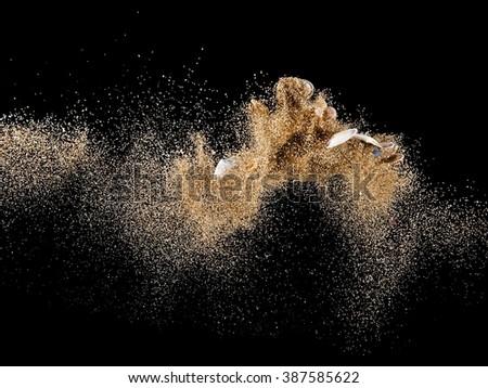 Sea sand up - stock photo