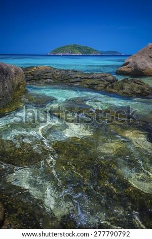 sea scape at similan island, Phang nga, Thailand. - stock photo
