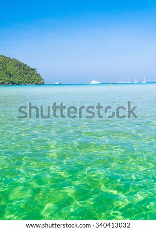 Sea Scene Natural Luxury  - stock photo