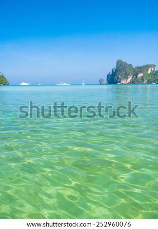 Sea Scene Ocean Panorama  - stock photo