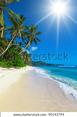 Sea Shore Dream Summertime - stock photo