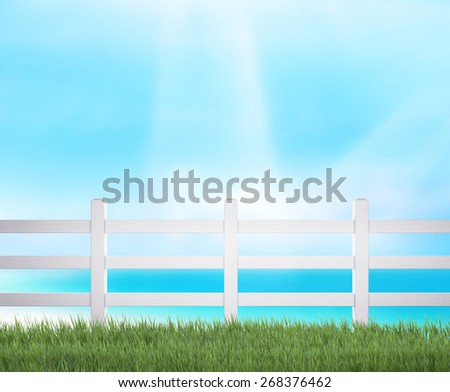 Sea sky And Blur Nature Background