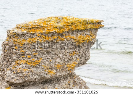 Sea stacks at the sea - stock photo