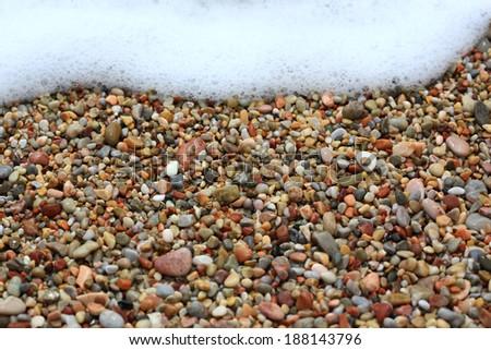 Sea stones background - stock photo