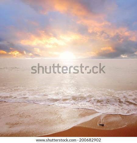sea sunrise. - stock photo