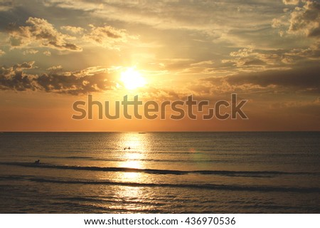 Sea sunset background