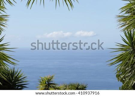 Sea travel holiday destination scenery background decoration - stock photo