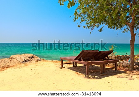 Sea view relaxation - stock photo