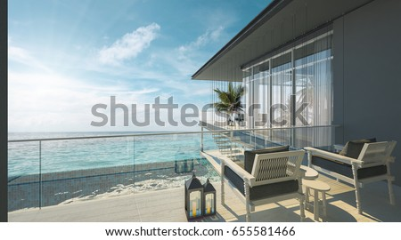 Luxury view stock images royalty free images vectors for Beach house loft design