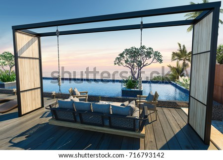 Beach house stock images royalty free images vectors for Beach house loft design