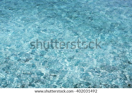 Sea water surface.