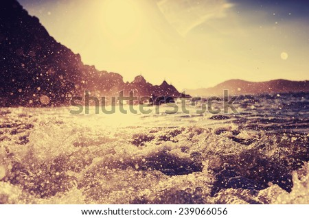 Sea wave  - stock photo