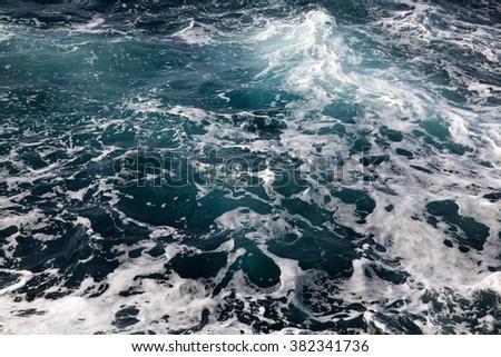 sea wave close up - stock photo