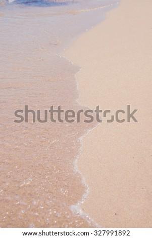 Sea wave on Crete, Greece - stock photo