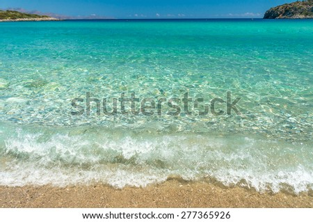 sea wave on the beach - stock photo