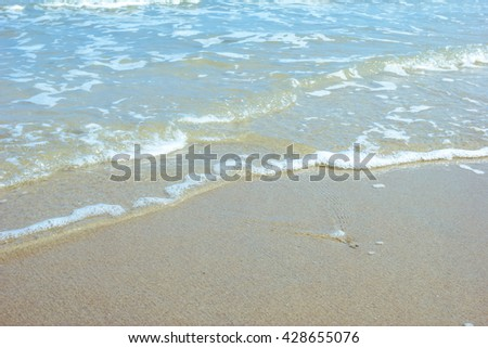 Sea wave on the beach