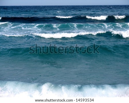 Sea waves - background, texture - stock photo
