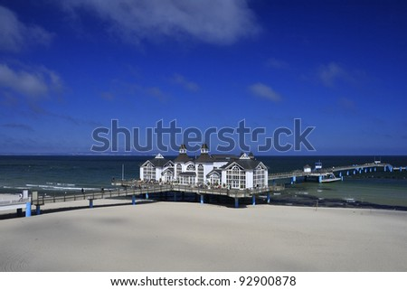 Seabridge in Sellin, Ruegen Island, Germany - stock photo