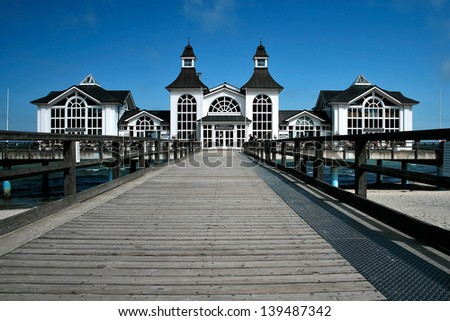 Seabridge of Sellin, Rugen Island, Germany - stock photo
