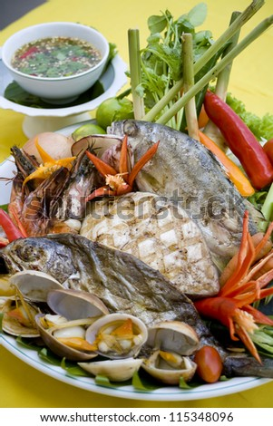 seafood - stock photo