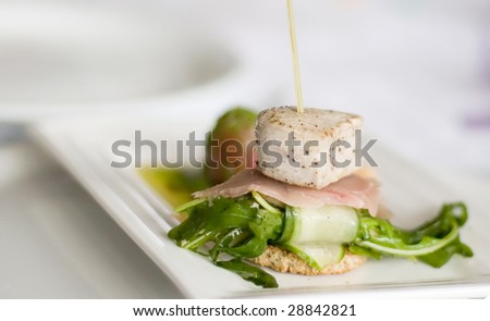 seafood dinner , high quality food - stock photo