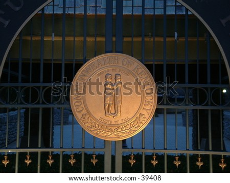 Seal of Kentucky - stock photo