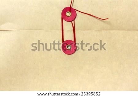 Seal of kraft envelope - stock photo