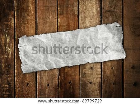 seal on wood plank - stock photo