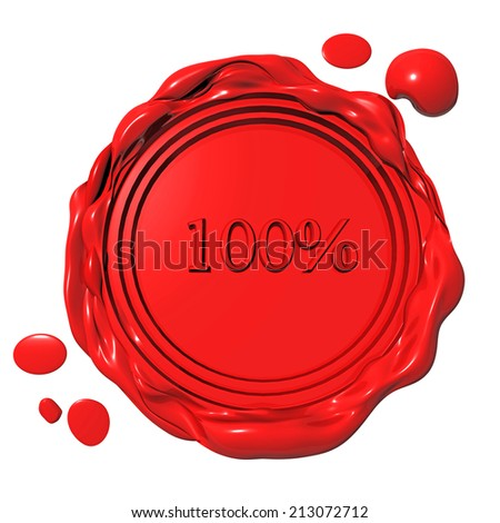 seal red 100 % - stock photo