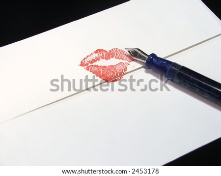 sealed with a kiss II - stock photo
