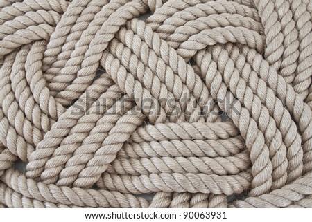 seaman's rope - stock photo