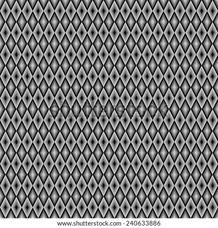 seamless abstract black grey pattern with rhombus. raster