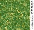 Seamless abstract casual hand-drawn pattern - stock photo
