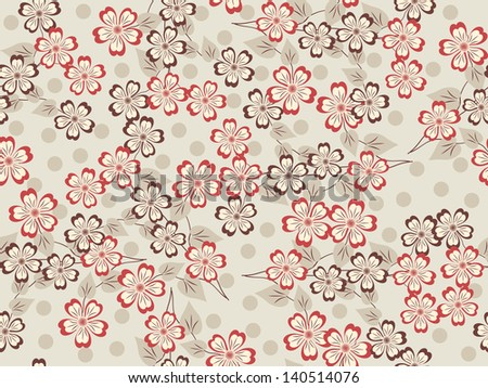 Seamless abstract floral illustration. Raster copy of vector file