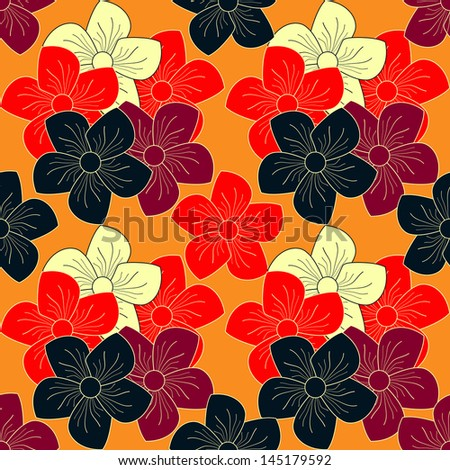 Seamless abstract floral pattern. Raster copy of vector file