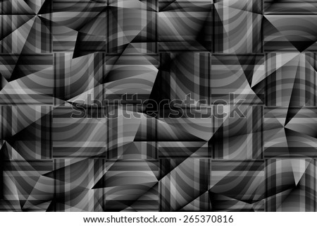seamless abstract grey pattern gray texture with rectangle with black line on dark grey wicker background raster - stock photo