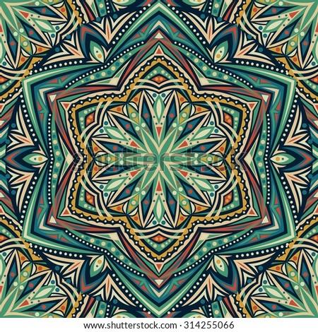 Seamless abstract pattern. Raster version. - stock photo