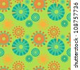 Seamless abstract round shapes pattern - stock photo