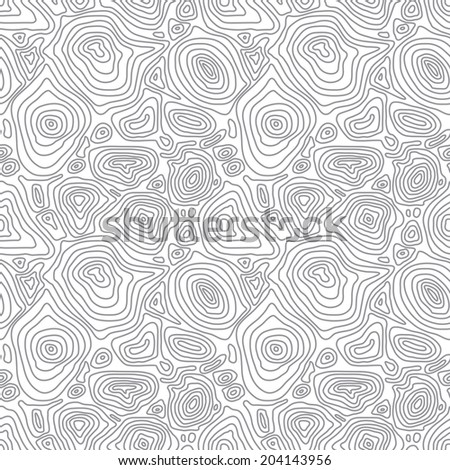 Seamless abstract simple monochrome pattern with concentric curved circles - stock photo