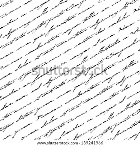 Seamless abstract text pattern. - stock photo