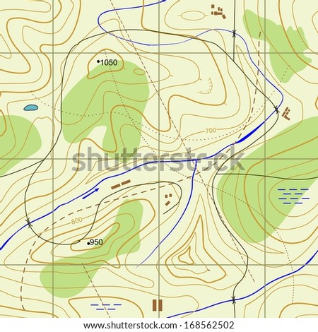 Seamless Abstract topographical map. Seamless pattern can be used for wallpaper, pattern fills, web page background,surface textures. Gorgeous seamless  background - stock photo