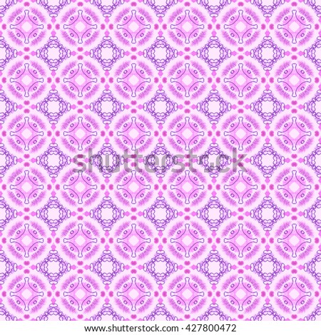 Seamless abstract wall-paper, pink. A decorative vintage pattern, the press for fabric, packing paper, interior design, a background, etc.