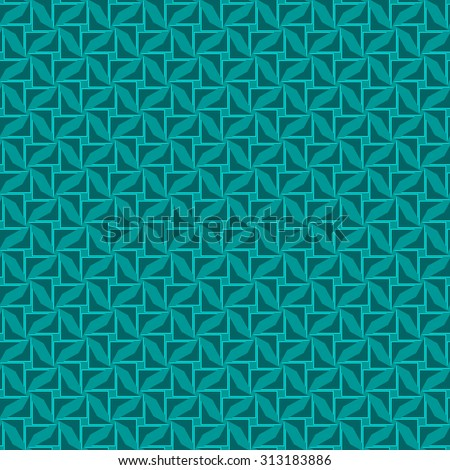 seamless angular abstract dark cyan pattern with azure texture with slate triangle with abstract mint line isolated on turquoise background. raster illustration