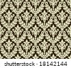 Seamless antique background image - tileable and vector - stock photo
