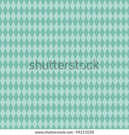 Seamless Aqua Diamond Background - stock photo