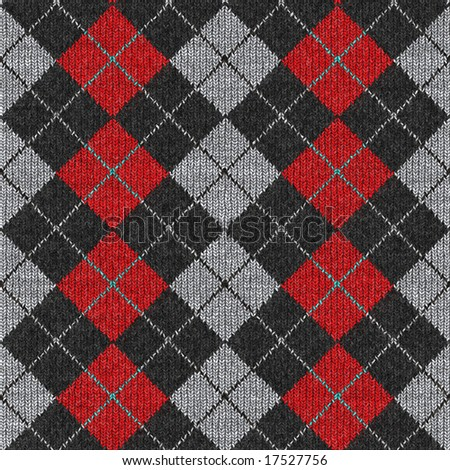 Seamless Argyle Sweater Background, Realistic and Detailed. See Vector Also In My Portfolio - stock photo
